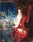 Misti Pavlov Girl In The City painting