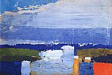 Abstract paintings - Noon Landscape by Nicolas De Stael