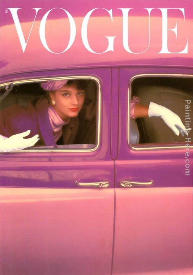Norman Parkinson Vogue Cover, Autumn Fuchsia