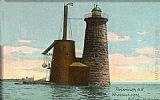 Norman Parkinson Whaleback Lighthouse, Portsmouth, New Hampshire painting
