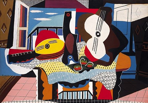 Pablo Picasso Mandolin and Guitar