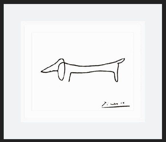 Pablo Picasso the dog