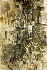 Pablo Picasso Accordionist painting