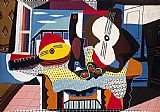 Abstract paintings - Mandolin and Guitar by Pablo Picasso