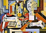 Pablo Picasso Studio with Plaster Head painting