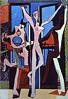 Abstract paintings - Three Dancers by Pablo Picasso