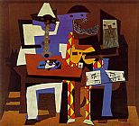 Abstract paintings - Three Musicians by Pablo Picasso