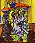 Pablo Picasso Weeping Woman with Handkerchief painting