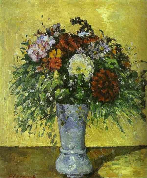 Paul Cezanne Flowers In A Blue Vase Painting Ipaintingsforsale