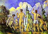 Paul Cezanne Bathers painting