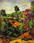 Paul Cezanne Canyon of Bibemus painting
