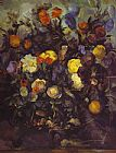 Paul Cezanne Flowers painting