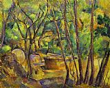 olive grove Paintings - Grindstone and Cistern in a Grove