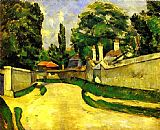 Paul Cezanne Houses on the Roadside painting