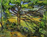 Paul Cezanne Pine Tree near Aix painting