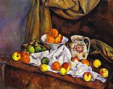 Paul Cezanne Still Life with Fruit Pitcher and Fruit-Vase painting