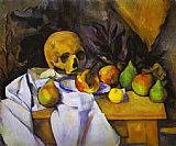 Paul Cezanne Still Life with a Skull painting