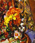 Paul Cezanne Vase with Flowers painting