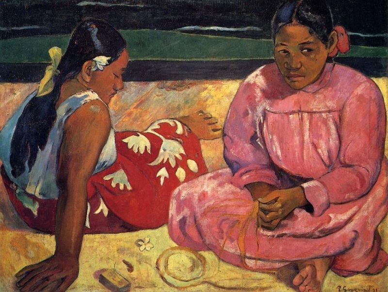 Paul Gauguin Two Women on Beach