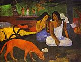 Paul Gauguin Arearea painting