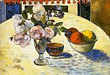 Paul Gauguin Flowers in a Fruit Bowl painting