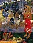 Paul Gauguin Hail Mary painting