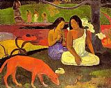 funny paintings - Joyousness by Paul Gauguin