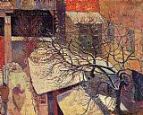 Paul Gauguin Paris in the Snow painting