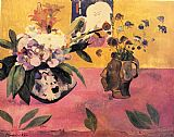 Paul Gauguin Still-Life with Japanese Woodcut painting