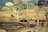 Paul Gauguin Tahitian Scene painting