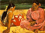 Paul Gauguin Tahitian Women On the Beach painting