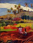 Paul Gauguin Tahitian Women under the Palms painting