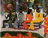 Paul Gauguin The Market painting
