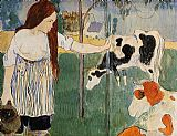 Paul Gauguin The Milkmaid painting