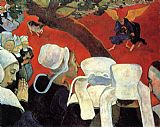 Paul Gauguin The Vision After the Sermon painting