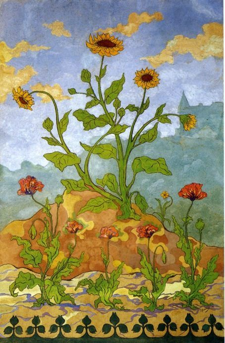 Paul Ranson Sunflowers and Poppies
