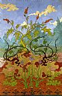 Paul Ranson Iris and Large Yellow and Mauve Flowers painting