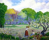 Paul Ranson Picking Flowers painting