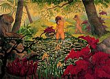 Paul Ranson The Bathing Place painting