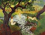 Paul Ranson Three Bathers with Irises painting