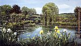 Peter Ellenshaw Bridge At Giverny painting