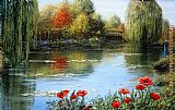 Peter Ellenshaw Fall Reflections Giverny painting
