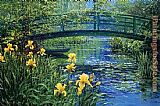 Peter Ellenshaw Monets Bridge painting