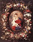 Peter Paul Rubens The Virgin and Child in a Garland of Flower painting