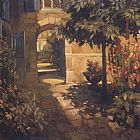 Philip Craig Courtyard in Provence painting