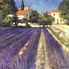 Philip Craig Lavender Fields painting