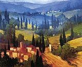 Philip Craig Tuscan Valley View painting