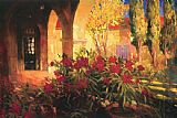 Philip Craig Twilight Courtyard painting