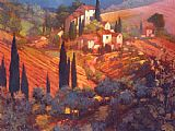 Philip Craig View from San Gimignano painting