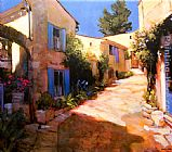 country village ii Paintings - Village in Provence